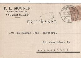 Valkenswaard - Sigarenfabrikant P.L. Moonen - 12.7.1922 - Marcofilia