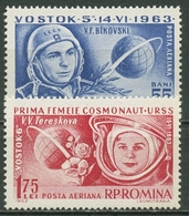 Rumänien 1963 Weltraumforschung Wostok 5/Wostok 6 2171/72 Postfrisch - 1948-.... Republics