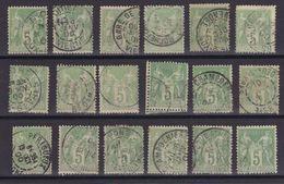 D173/ LOT SAGE N° 102 OBL - 1876-1898 Sage (Type II)
