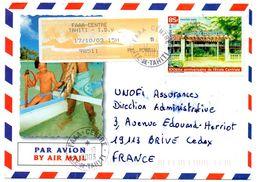 Polynésie Française Cachet Manuel FAAA CENTRE  Iles Du Vent + Etiquette Vignette GAPA Guichet ILE DE TAHITI 2003 - Polynésie Française