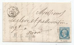 - DORDOGNE - HAUTEFORT PC Du GC 1765/TP Napoleon III N°22 + Càd Type 15 - 1865 - 1862 Napoleone III