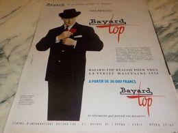 ANCIENNE   PUBLICITE TOP DE   BAYARD 1958 - Vintage Clothes & Linen