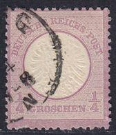 BRUSTSCHILD Nr.16 Fehlendes Zähnungsloch FZL Ou2/8 Sauber Gestempelt (bb20) - Gebraucht