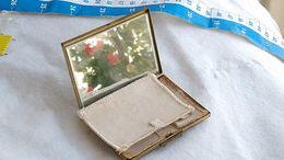Antique Bronze Powder Box Poudrier Avec Miroir Mirror Boite A Poudre  #14 - Beauty Products