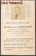 FAIRE-PART DE DECES MARIE HELENE LOUISE DE COSSART D'ESPIES CHATEAU DE MONTPATEY COUCHES-LES-MINES 71 NOBLESSE - Francia