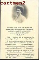 FAIRE-PART DE DECES JEAN DE BODARD DE LA JACOPIERE YVERT SAINT-AUBIN NOBLESSE FAMILLE ROYALE GENEALOGIE MORTUAIRE - Décès