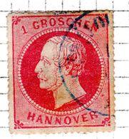 ALLEMAGNE - (Hanovre) - 1864 - N° 24 - 1 G. Rose - (Effigie De Georges V) - Hanovre