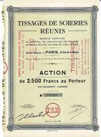 Titre Ancien - Tissages De Soieries Réunis - Société Anonyme - Titre De 1951 - - Textile