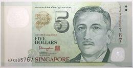 Singapour - 5 Dollars - 2013 - PICK 47c - NEUF - Singapur