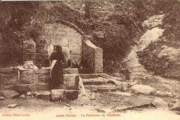 CORSE  - LEVIE - Femme Faisant Sa Lessive à La Fontaine De Vitalbeto - Rare - Ed. Ettori Frères - France