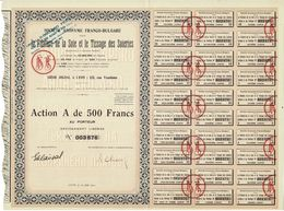 Titre Ancien - Société Anonyme Franco-Bulgare Pour La Filature De La Soie Et Le Tissage Des Soieries - Titre De 1931 - - Textile