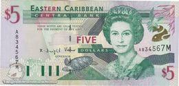 TWN - MONTSERRAT 37m - 5 Dollars 2000 Prefix A UNC - Oostelijke Caraïben