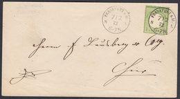 BRUSTSCHILD Nr. 7 Als EF Auf Ortsbrief Sauberer K1 FRANKFURT A.M. N 1 Vom 7.2.1872 (rh20) - Germany