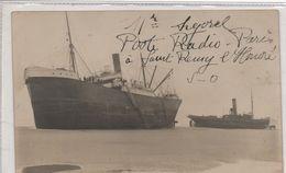 62   Ambleteuse   Carte Photo  Deux Navires Echoues  ( Cargo Et Son Remorqueur ) - Andere Gemeenten