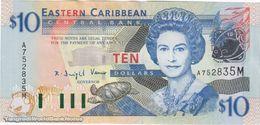 TWN - MONTSERRAT 43m - 10 Dollars 2003 Prefix A UNC - Ostkaribik