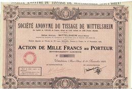 Titre Ancien - Société Anonyme Du Tissage De Wittelsheim - Titre De 1925 - - Textile
