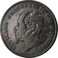 Monnaie, Italie, Vittorio Emanuele II, 5 Centesimi, 1862, Naples, TB, Cuivre - 1861-1946 : Regno