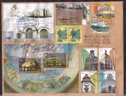 Argentina - 2008 - Erreur De Cachet - Lettre - Architecture - Bâtiments De Buenos Aires - Timbre Diverse  - Non Circulee - Argentina