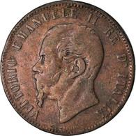 Monnaie, Italie, Vittorio Emanuele II, 10 Centesimi, 1867, Naples, TTB, Cuivre - 1861-1946 : Regno