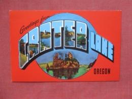 Greetings  Crater Lake Oregon > >   Ref 4167 - Etats-Unis