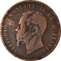 Monnaie, Italie, Vittorio Emanuele II, 10 Centesimi, 1866, Naples, TB, Cuivre - 1861-1946 : Regno