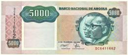 Angola - 5000 Kwanzas - 04.02.1991 - Pick 130.b - Sign. 17 - Série DC - José Eduardo Dos Santos E Agostinho Neto 5 000 - Angola