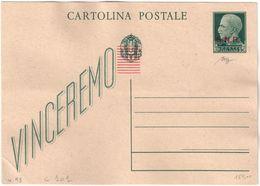 REPUBBLICA SOCIALE - INTERO POSTALE C. 15 SOVRASTAMPA G.N.R. CON PUNTI TONDI TIRATURA DI BRESCIA - NUOVO FILAGRANO C101 - 4. 1944-45 Repubblica Sociale