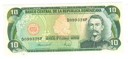 Dominican Republic, 10 Pesos 1988. UNC. - República Dominicana