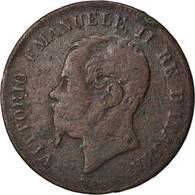 Monnaie, Italie, Vittorio Emanuele II, 5 Centesimi, 1867, Naples, TB, Cuivre - 1861-1946 : Regno
