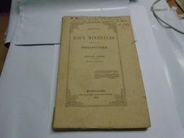 ESQUISSE DES EAUX MINERALES AU POINT DE VUE THERAPEUTIQUE 1854 BENJAMIN VERDIER Envoi De L'auteur Au Baron De Fontmagne - Boeken, Tijdschriften, Stripverhalen