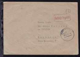 Nürnberg OSt. Nürnberg 18 27.12.45 + R1 Gebühr Bezahlt Auf Brief Nach Kulmbach - Deutschland
