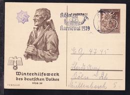 Köln KÖLN 1 13.2.39 Köln Karneval 1939 Auf Ganzsache - Germany