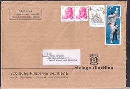 España - 2013 - Sobre Circulado A La República Argentina - Rte. Soc.Filatélica Sevillana - Tamaño 23x16 Cm - Cygnus - 2011-... Lettres