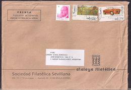 España - 2014 - Sobre Circulado A La República Argentina - Rte. Soc.Filatélica Sevillana - Tamaño 23x16 Cm - Cygnus - 2011-... Lettres
