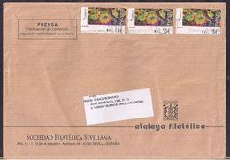 España - 2011 - Sobre Circulado A La República Argentina - Rte. Soc.Filatélica Sevillana - Tamaño 23x16 Cm - Cygnus - 2011-... Lettres
