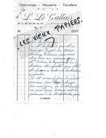 22 - Côtes-d'armor - PLEDRAN - Facture LE GALLAIS - Charronnage, Menuiserie, Tonnellerie  - 1957 - REF 154A - France