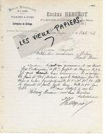22 - Côtes-d'armor - PLENEE-JUGON - Facture HERGNOT - Moulin, Scierie, Farines, Sons  - 1906 - REF 154A - France