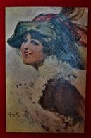 CPA Illustrateur - Femme - Mode Rétro - Chapeau 1927 - Künstlerkarten