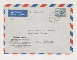 CZECHOSLOVAKIA ZAKUPY 1947 Nice Airmail Cover To SWitzerland - Storia Postale