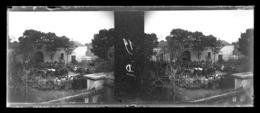 ° Cuirassé Danton Coulé Le 19 Mars 1917 - Enterrement De Marins à Toulon ° Lot De 23 Plaques Stéréos 45 X 107 Mm ° - Glasdias