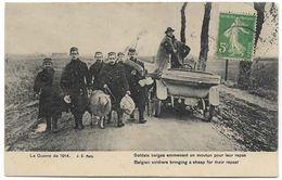 14 - 18 : Soldats Belges Emmenant Un Mouton Pour Leur Repas - Guerra 1914-18