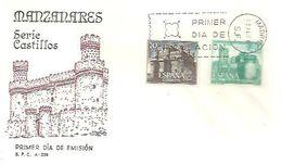 FDC 1966 CASTILLO DE GUADAMUR - FDC