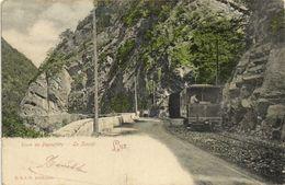 LUZ Route De Pierrefitte  Le Tunnel  Tram Et Son Conducteur Precurseur R & J.D.RV - Sonstige Gemeinden