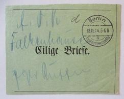 Feldpost Eilige Briefe Bundzettel 1914 Postsammelstelle - AA Falkenhausen (5560) - Guerre 1914-18