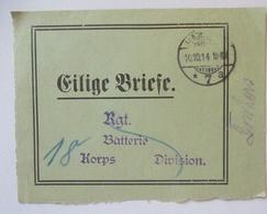 Feldpost Eilige Briefe Bundzettel 1914 Hamburg Ans 18. Korps (21539) - Guerre 1914-18