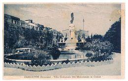 B3710 - Siracusa, Canicattini Villa Comunale E Monumento Ai Caduti, Viaggiata 1935 - Siracusa