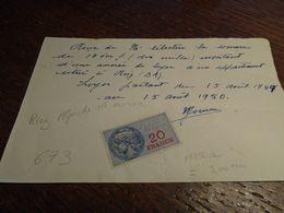 1950-  Alpes De Ht PROVENCE (RIEZ) +  FACTURE + 2TP/FISCAL N° 150a = 3,00 Eur + 2 Photos - Fiscaux