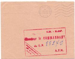 Omslag Enveloppe - Cachet Militaire - Poste Aux Armees - A.F.N. - 1958 - Enteros Postales