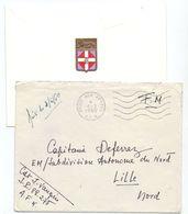 Omslag Enveloppe Avec Lettre Carte De Voeux - Cachet Militaire - Poste Aux Armees - A.F.N. - 1960 - Enteros Postales