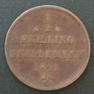 NORVEGE - NORWAY - ½ - 1/2 SKILLING 1841 - Carl XIV Johan - KM 305 - Danemark
